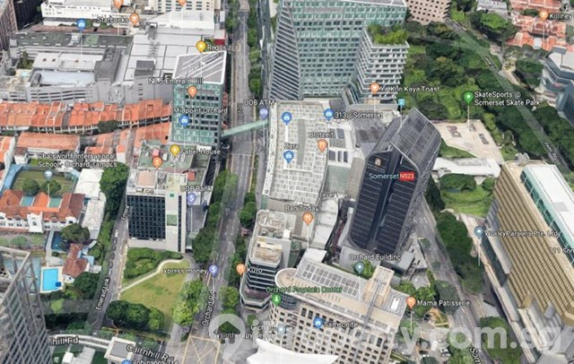 Orchard Road near MRT Freehold Building