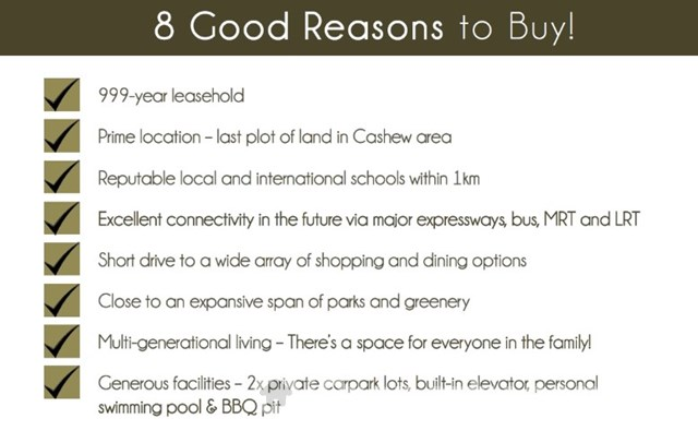 Cashew Green Brand New 999 Years Landed Property 7 mins walk to Cashew MRT