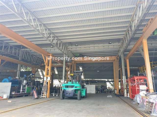 URA detached factory, multiple cranes