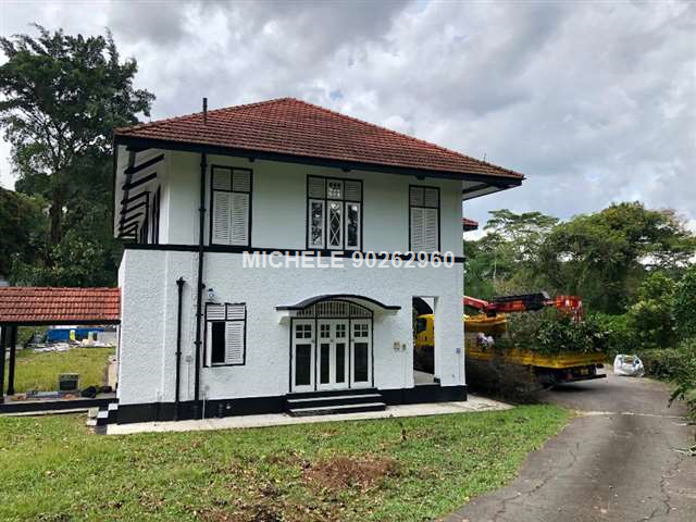Colonial Black and White Bungalow