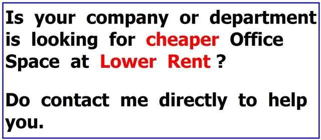 Office space fro rent at GOOD RENTAL PRICE